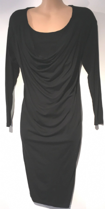 MAMAS & PAPAS BLACK COWL NECK NURSING DRESS SIZE 10